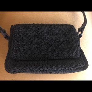 Liz Claiborne Black Braided Purse
